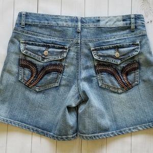 Vanilla Star Stretchy Distressed Denim Shorts 15